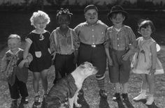 One of the early silent Our Gang groupings -- (left to right) Wheezer, Jean Darling, Farina, Joe Cobb, Harry Spear, Mary Ann Jackson and Petey the dog. Jean Darling is still alive today and is 92 - she is one of the few main Our Gang members still with us today -