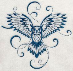 Inky Owl in flight Machine Embroidery Designs at Embroidery Library! Flying Owl Tattoo, Owl Tattoo Back, Simple Owl Tattoo, Simple Owl Drawing, Owl Tattoo Wrist, Bild Tattoos, Neue Tattoos, Body Art Tattoos, Circle Tattoos