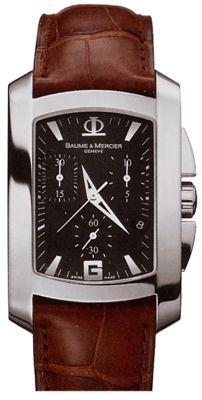 8484 Baume & Mercier Hampton Milleis XL Chronograph - швейцарские мужские часы наручные, стальные, коричневые - хронограф