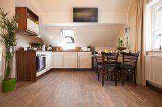 Die modern ausgestattete Küche.
