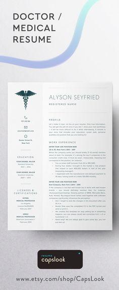 Nurse Resume Template for Word Medical Resume Word Nurse CV