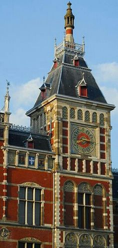 Amsterdam Central Station Clock Tower