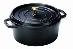 Staub 225Quart Round Cocotte Black Matte *** You can get more details by clicking on the image.