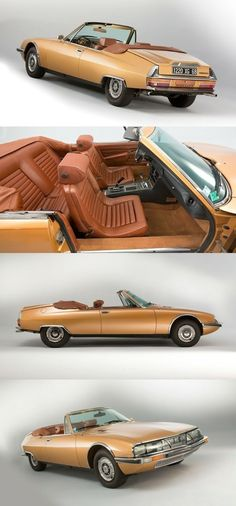 1971 Citroën SM Cabriolet - - Citroen Pub - Car World Citroen Ds, Psa Peugeot Citroen, Citroen Concept, Concept Cars, Retro Cars, Vintage Cars, Automobile, Top Cars, Automotive Design