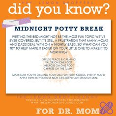 Essential oils for bed wetting   Young Living   Visit www.theoildropper.com for more info on oils