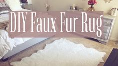 In this video, I will show how to make your own Faux Fur Rug for under $35 !!! M A T E R I A L S : 5x8 Rug Underlay 2 Yards of Fur Fabric Spray Adhesive Scis...
