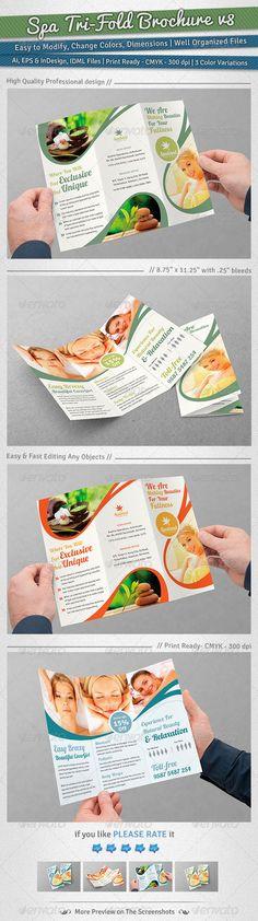 Spa Tri-Fold Brochure | Volume 8  #GraphicRiver