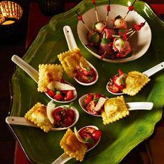 Fried Ravoli with Salsa - Healthy & Easy Recipes