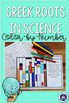 Greek roots are important for understanding terminology in science. If you are looking for a fun teaching idea, why not try this Color-by-number activity? It is a great addition to your notebook activities for Middle School and is perfect to use as a sub plan!
