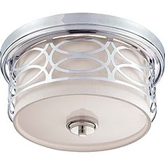 Evelyn Chrome and Crystal Ceiling Flush-mount Chandelier - Overstock Shopping - Big Discounts on Flush Mounts