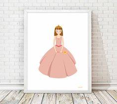 lamina princesa, cuadro princesa, princesa imprimible, cuadro rosa,, laminas imprimibles, laminas niña, laminas infantiles