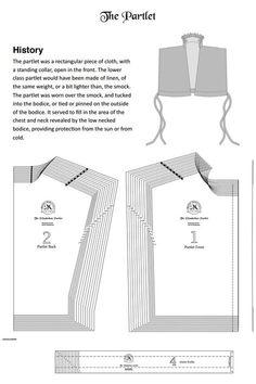 Free Elizabethan partlet pattern