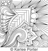 Digitized Quilting Design Bliss Block 1 by Karlee Porter. For use on any long arm quilting machine with a computer guided quilting system installed.