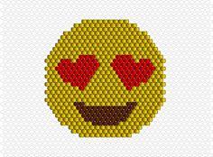 Emoji coeur sourire perles