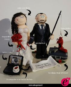 ...ele-ganza...: cake topper #matrimonio personalizzato #customcaketopper #caketopper #toppercake #topcake #weddingidea #weddingcake #wedding #bride #weddingcaketopper #sopratorta #cakedesign #cakeidea #caketop #fimo #clay #clayproject #clayminiature www.ele-ganza.it