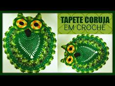 """Lenita crochês e confecões em geral: VÍDEO AULA """"""""TAPETE CORUJA"""""""" E TAMBÉM A TAMPA DO V..."""