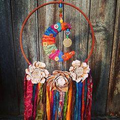Tassel Necklace, Crochet Necklace, Boho Dreamcatcher, Wood Flowers, Boho Nursery, Sari Silk, Moon Art, Boho Wedding, I Love You