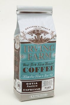 Irving Farm Coffee Packaging         I was instantly drawn to the packaging used for Irving Farm Coffee . They have a really nice style go...