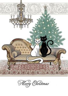 ✻BugArt Christmas Kitty ~ Chaise Tree. CHRISTMAS KITTY Designed by Jane Crowther.
