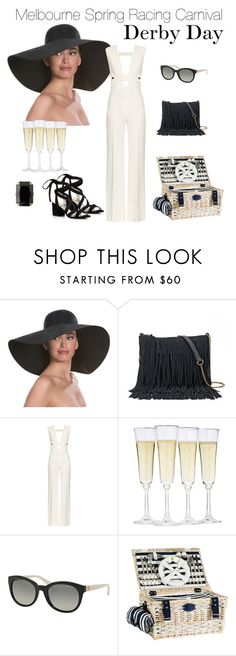 """""""Spring Racing Fashion: Derby Day"""" by irockjewellery on Polyvore featuring Eric Javits, SONOMA Goods for Life, La Mania, Fortessa, Michael Kors, Kenneth Cole, StyleInspiration, fashionset and Springracing"""
