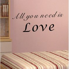 Pop Decors All You Need Is Love Wall Decal Color: Black