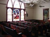 Inside West window view of the Heislerville United Methodist Church, Heislerville (Cumberland County), NJ <3
