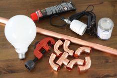 Kupferrohr Lampe Materialien