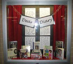 Library Displays- diaries & journals