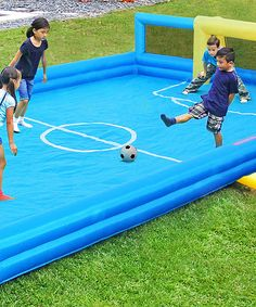 Look at this Inflatable Soccer Field on #zulily today!