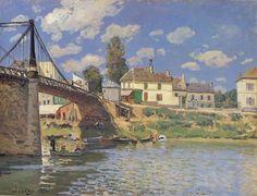 Il ponte a Villeneuve-la-Garenne di Alfred Sisley