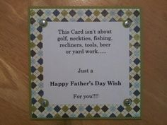 My dads card. Fathers day 2013