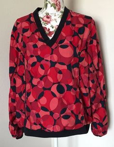 LIZ GOLF by Liz Claiborne Women's Size XL Multi-Colored Pullover Windbreaker EUC #LizClaiborne #CoatsJackets