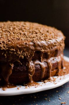 This Healthy Chocolate Cake Recipe with yogurt, maple syrup and whole wheat flour is every dark chocolate lover's dream and is perfect for beginners bakers.