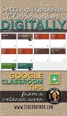 Setting up your classroom digitally www.traceeorman.com