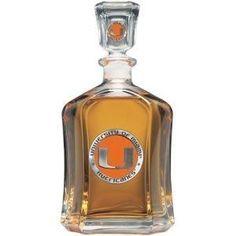 Miami Hurricanes Glass Capitol Decanter (Spirit Holder) 24 oz