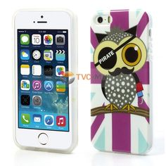Cool Pirate Owl Glossy IMD TPU Gel Case for iPhone 5s 5