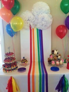 Rainbow Party Inspired by Elf on the Shelf Birthday Tradition   CatchMyParty.com