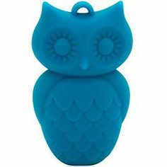 Blue Hawaiian Owl Pendant Nursing Necklace by Jellystone
