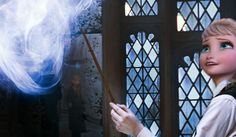 elsa at hogwarts by Akayshia FrozenGuardian (Google+ name) please give credit if you repin!