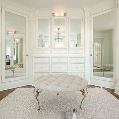 "331 Likes, 4 Comments - Build Prestige Homes (@build_prestige_homes) on Instagram: ""#BPHloves  this #walkin #wardrobe by #alischwartzdesign #ottoman #mirrored #doors """