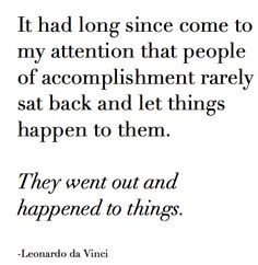 Leonardo de Vinci Quote | Inspirational #quotes from inspirational people