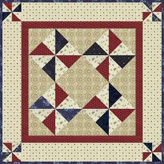 Kathleen Tracy quilt, small and scrappy, free quilt pattern, doll quilt, small quilt Blue Quilts, Small Quilts, Mini Quilts, Primitive Quilts, Primitive Patterns, Primitive Stitchery, Primitive Crafts, Wood Crafts, Mini Quilt Patterns