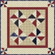 """A Sentimental Quilter: patriotic quilt, """"Pinwheels"""""""