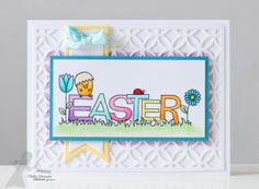 Easter Card by Shelly Mercado #Easter, #Cardmaking, #CuttingPlates