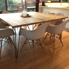 See what DIY tables our customers are creating every weekend with these hairpin legs.