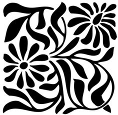 Floral design for painting onto a table cloth or runner