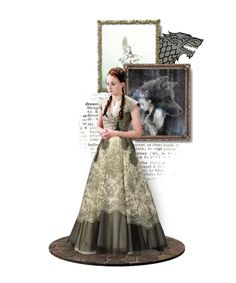 """""Once she had loved Prince Joffrey with all her heart, and admired and trusted her his mother, the queen. They had repaid that love and trust with her father's head. Sansa would never make that mistake again."""" by buffykdh ❤ liked on Polyvore featuring art"
