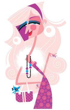 """""""Paris Hilton"""" by Pablo Lobato. [Graphic Design Illustration]"""