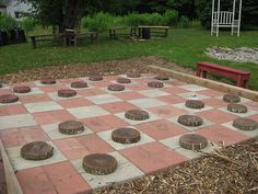 outdoor checkers!! I am so doing this!!