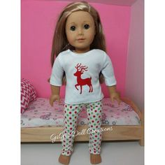 Leggings 18 in Doll Clothes Fits American Girl Cheetah Print Heart T-Shirt